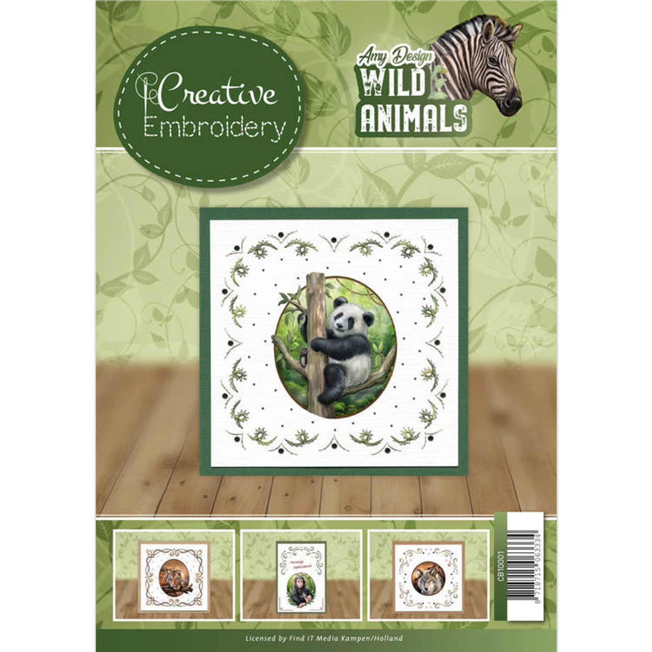 Creative Embroidery Amy Design A4 Booklet - Wild Animals