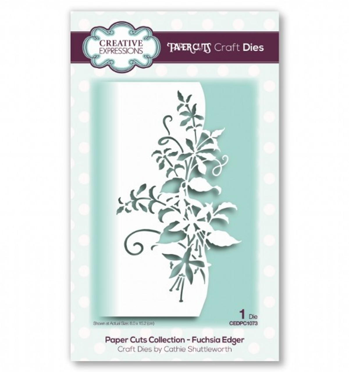 Creative Expressions Paper Cuts Collection - Fuchsia Edger Craft Die