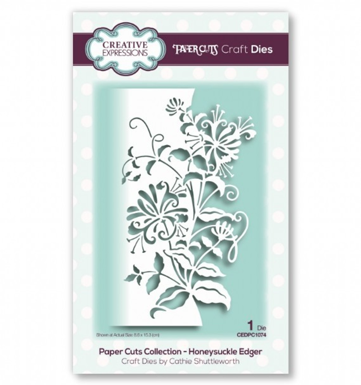 Creative Expressions Paper Cuts Collection - Honeysuckle Edger Craft Die CEDPC1074