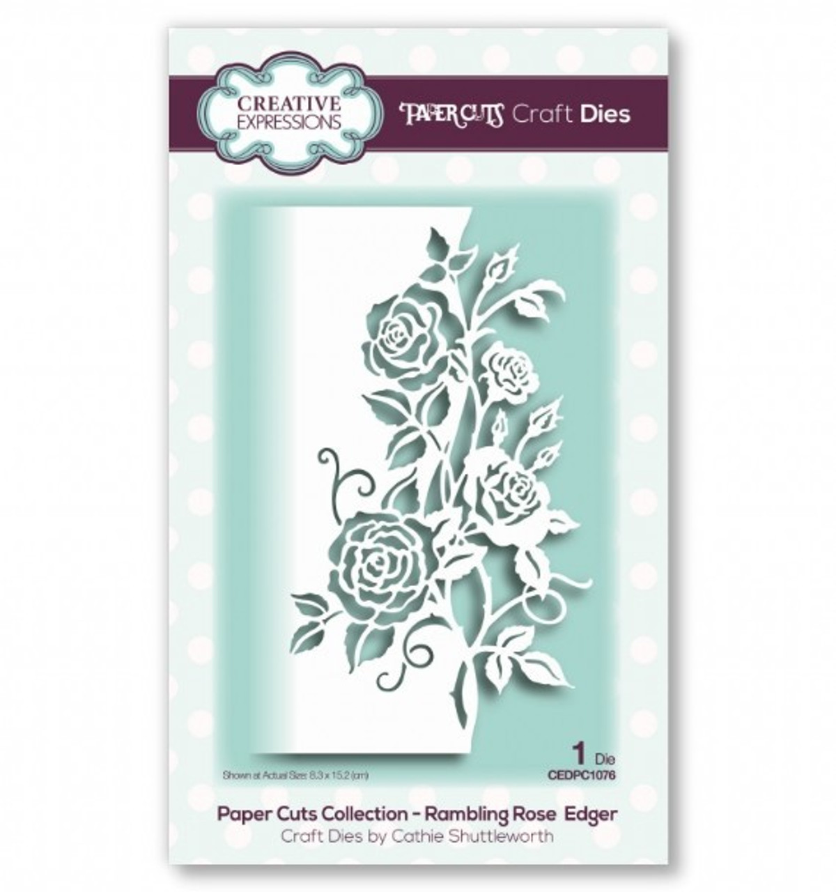 Creative Expressions Paper Cuts Collection - Rambling Rose Edger Craft Die CEDPC1076