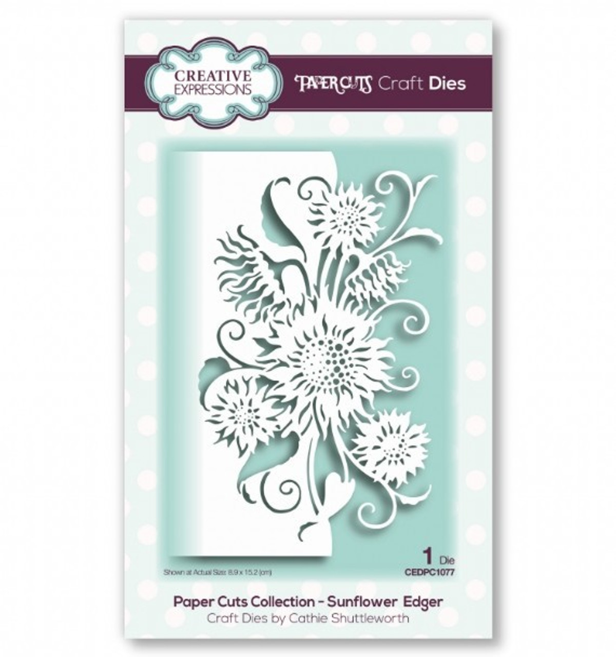 Creative Expressions Paper Cuts Collection - Sunflower Edger Craft Die CEDPC1077