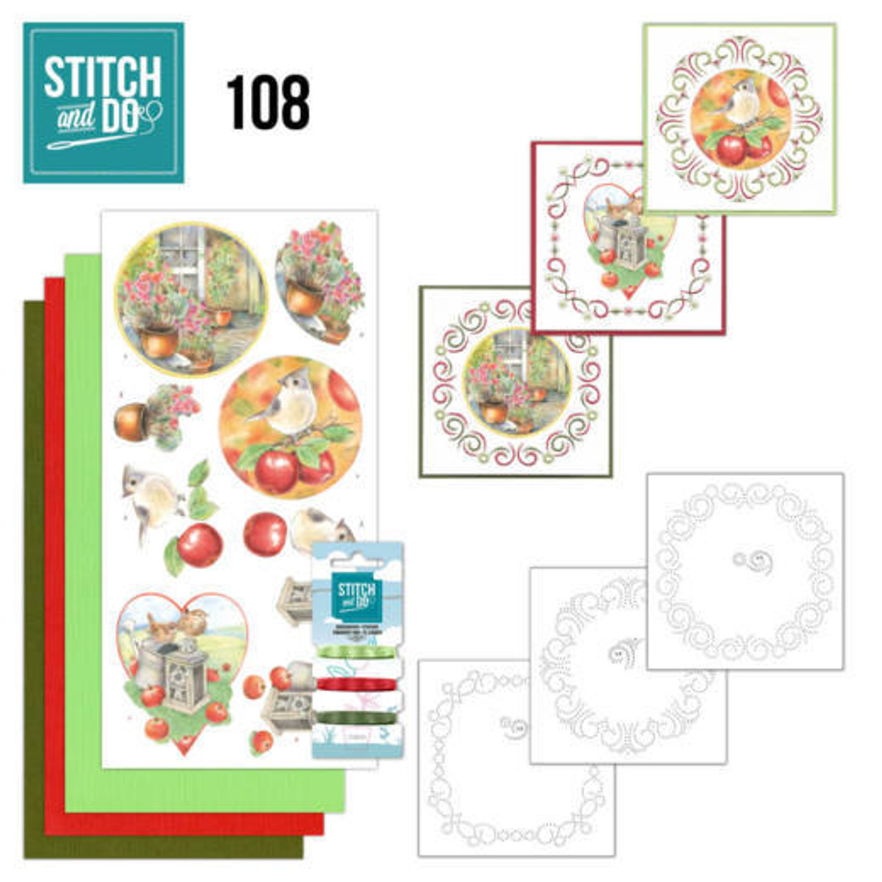 Stitch and Do 108 - Card Embroidery Kit - Outdoor Beauty