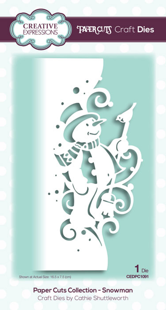 Creative Expressions Paper Cuts Collection Die - Snowman CEDPC1091