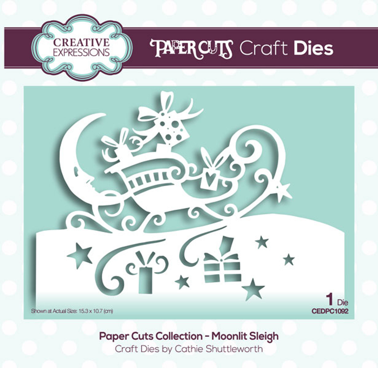 Creative Expressions Paper Cuts Collection Die - Moonlit Sleigh CEDPC1092