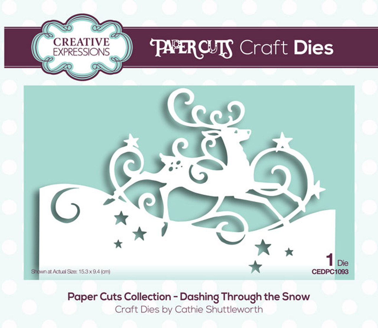 Creative Expressions Paper Cuts Collection Die - Dashing Through the Snow  CEDPC1093
