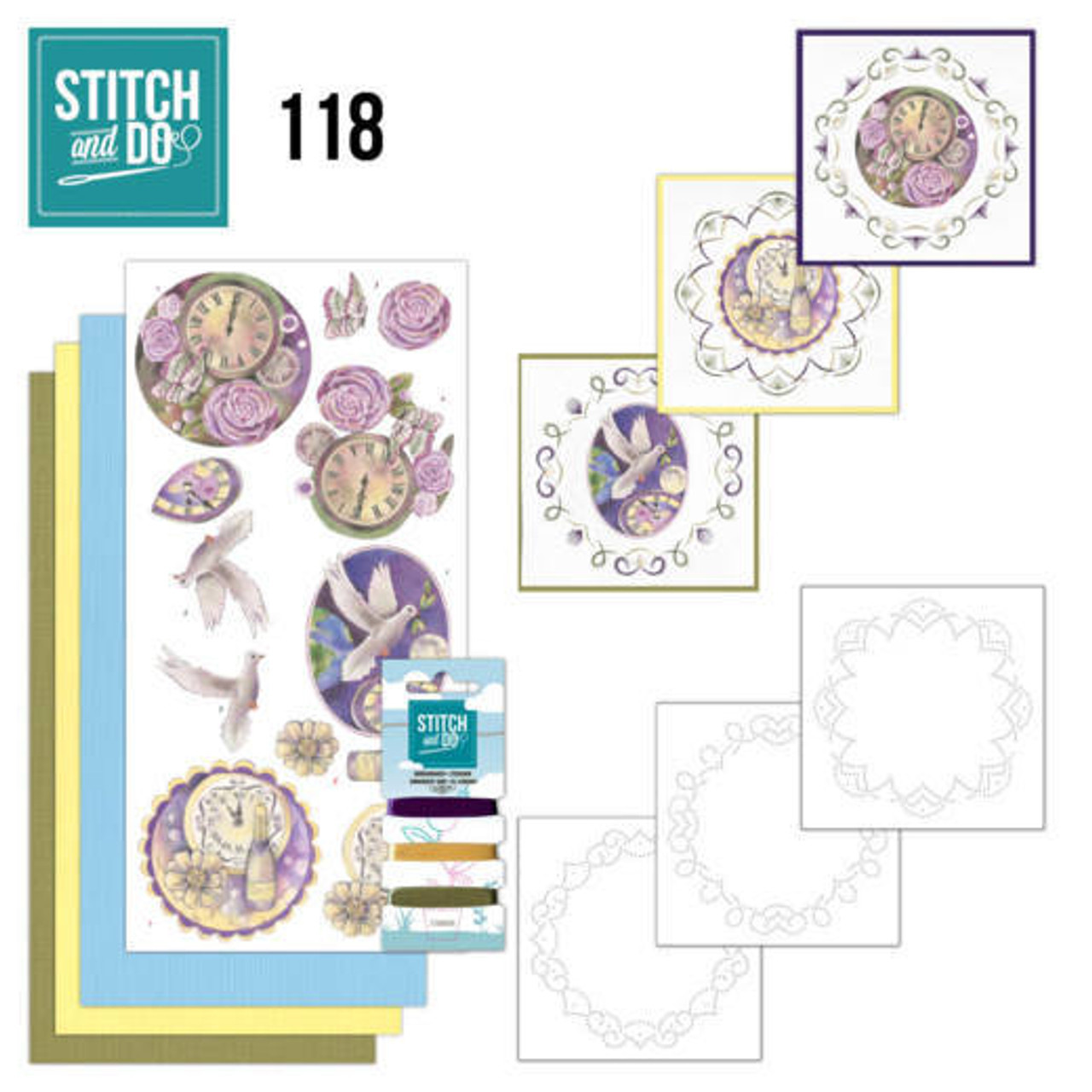 Stitch and Do 118 - Card Embroidery Kit - News Years Eve