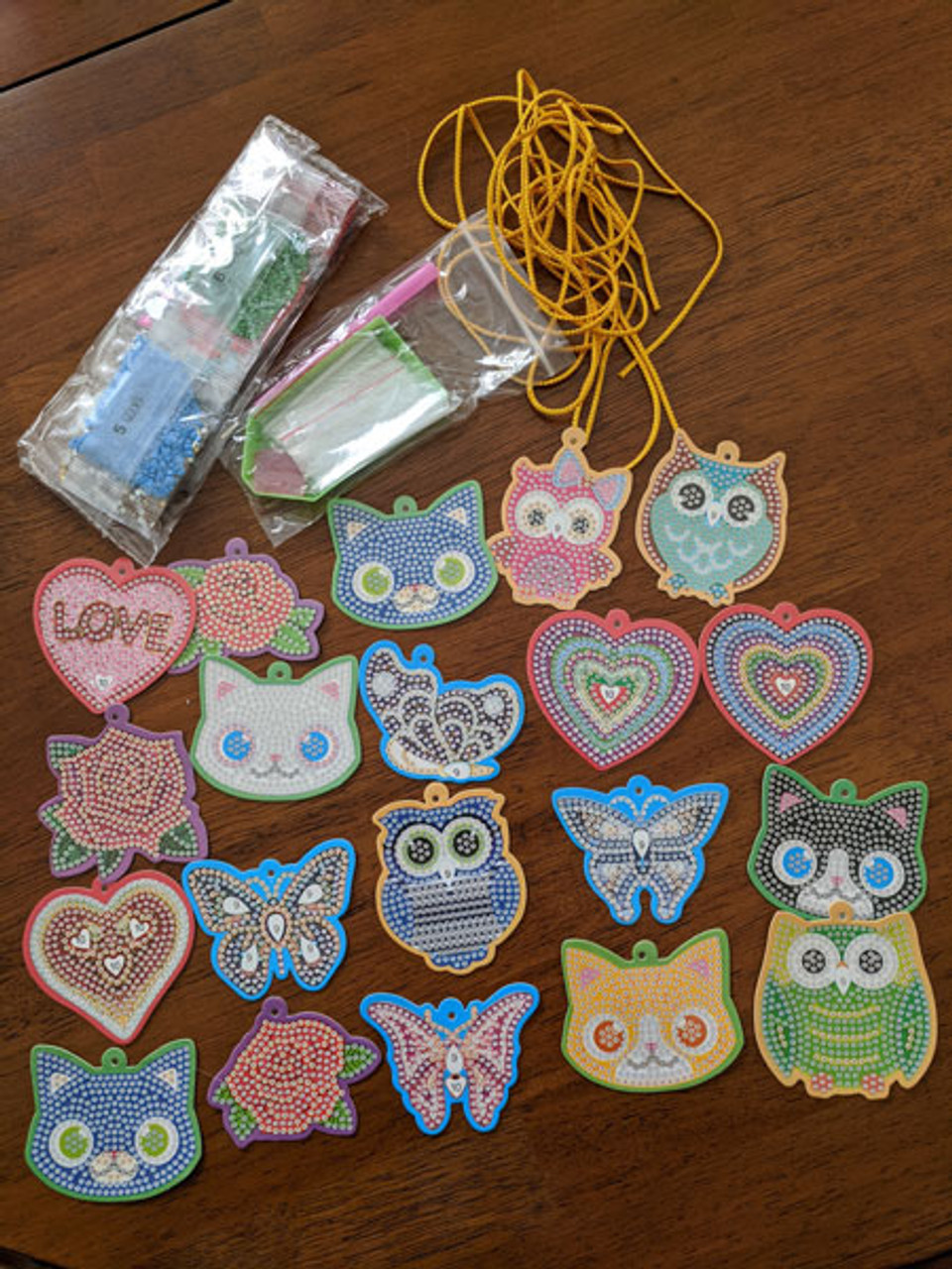 5D DIY Diamond Painting Greeting Tags /Decorations - Mixed Designs 20 Pieces