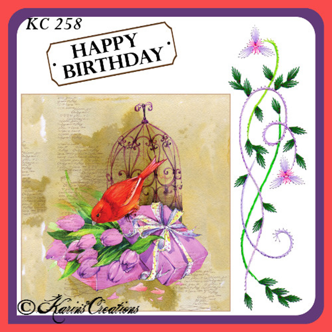 Karin's Creations Card Stitching e-Pattern - KC258e
