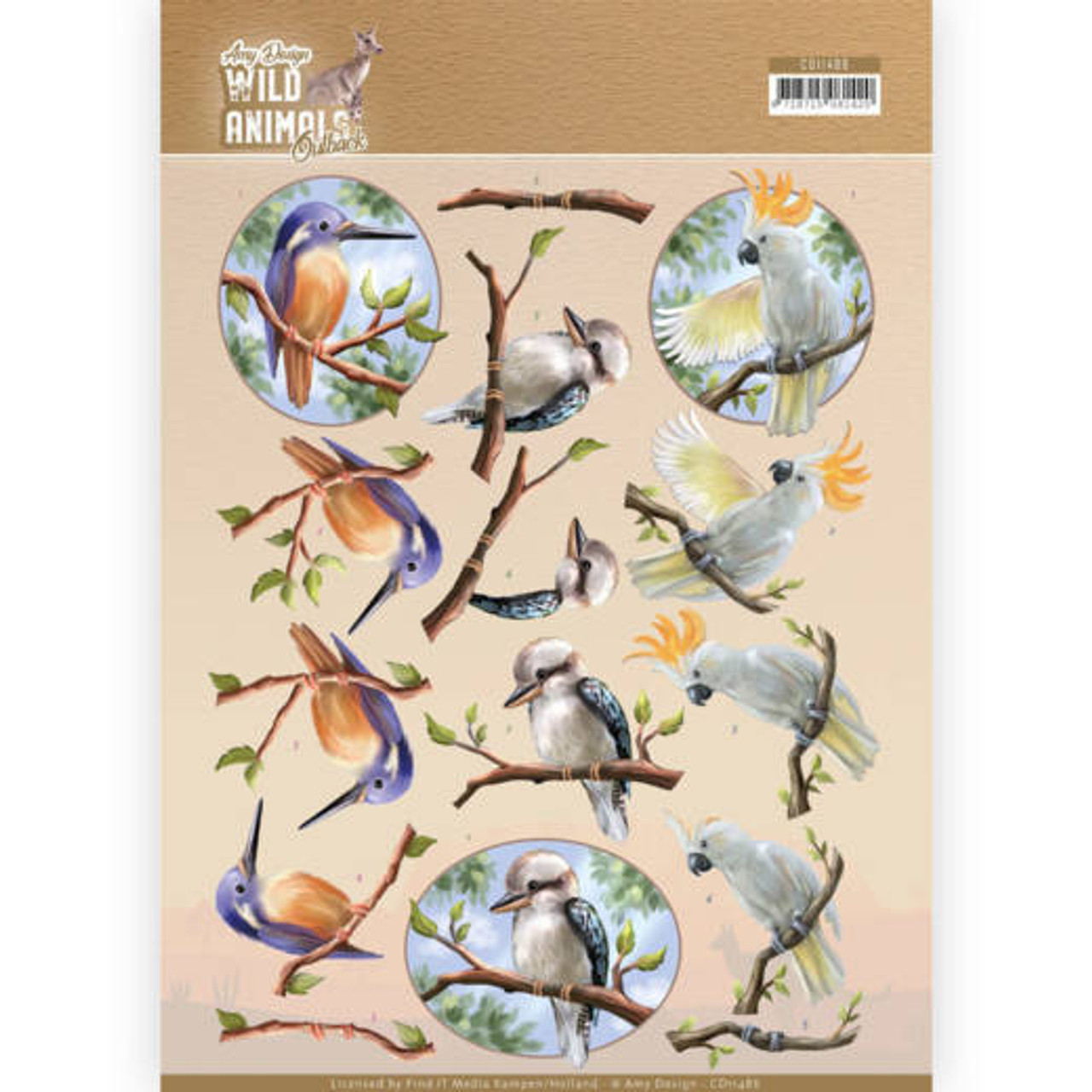 3D Sheet Amy Design  - Wild Animals Outback Parrot CD10486