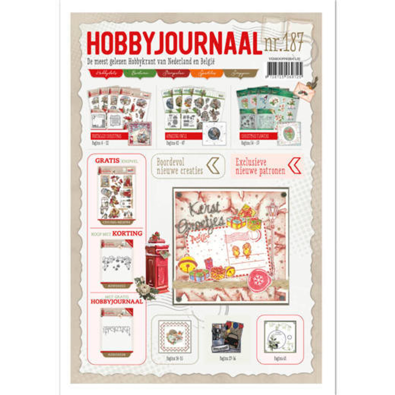 Hobbyjournaal 187 with free 3D Push-Out Sheet