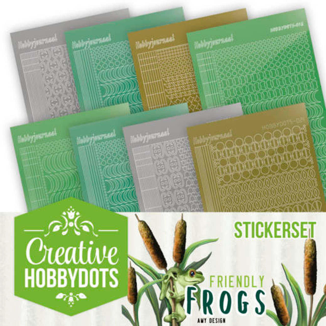 Creative Hobbydots 10 Booklet - Friendly Frogs