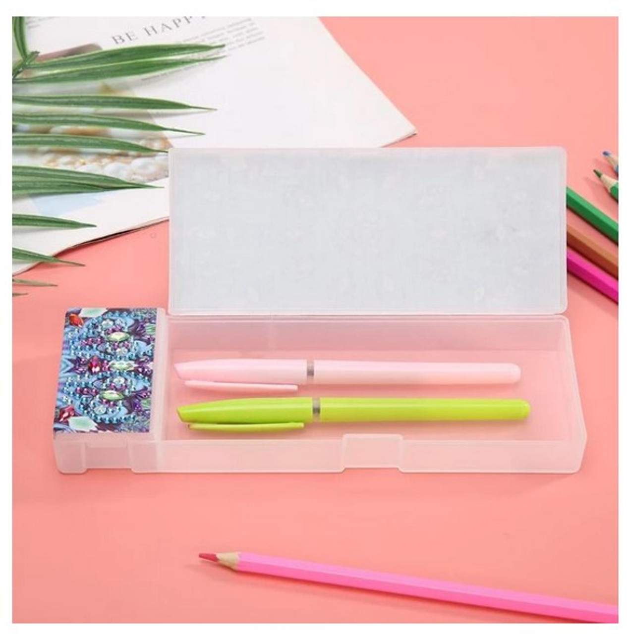 5D Diamond Painting Pencil Case KB001 - Blue Flower