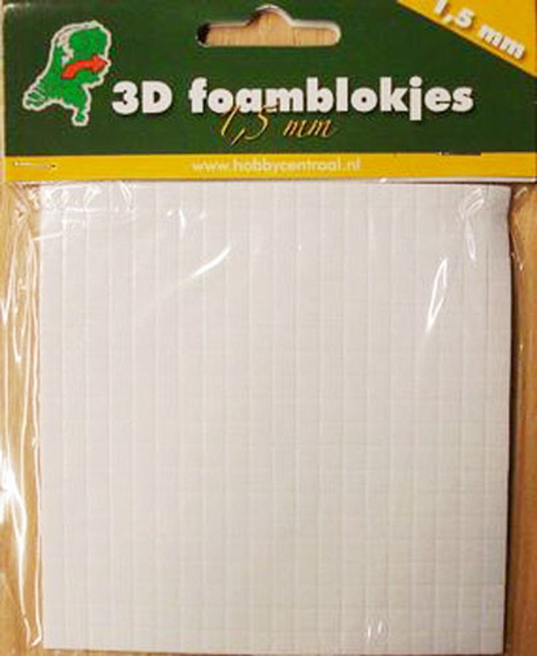 3D Foam Squares Hobbycentraal  - 1.5mm  x 5mm x 5mm