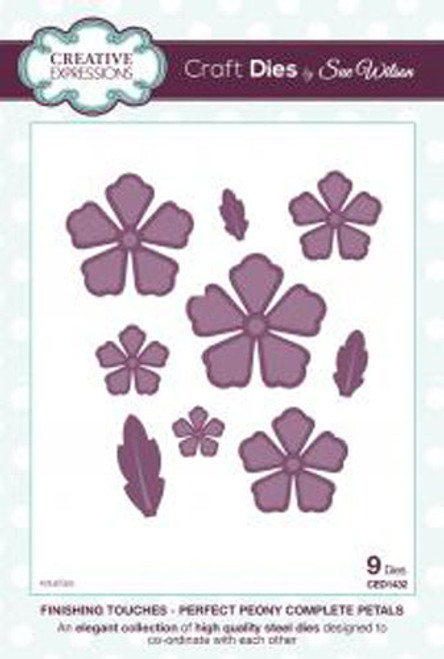 Sue Wilson Finishing Touches Collection Perfect Peony Complete Petals Die CED1432 - Pre-Order 15% Off