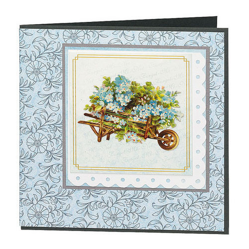 Craft Creations A4 Die-Cut Topper Sheet - Victorian Floral Barrows 1
