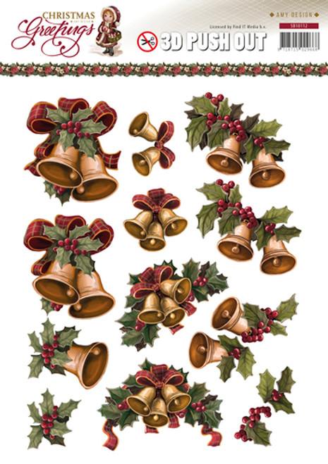 3D Die-Cut Sheet Amy Design Christmas Greetings SB10112