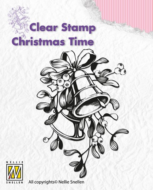 Nellie Snellen Christmas Time Stamp Christmas Bells  CT006