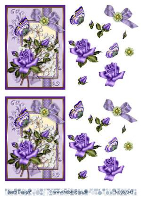 3D Sheet Barto Design A4 - Purple Rose 67343