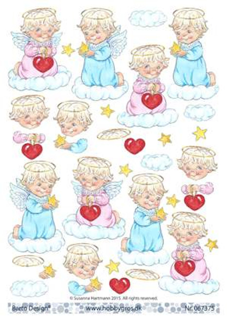 3D Sheet Barto Design A4 - Angels  67375