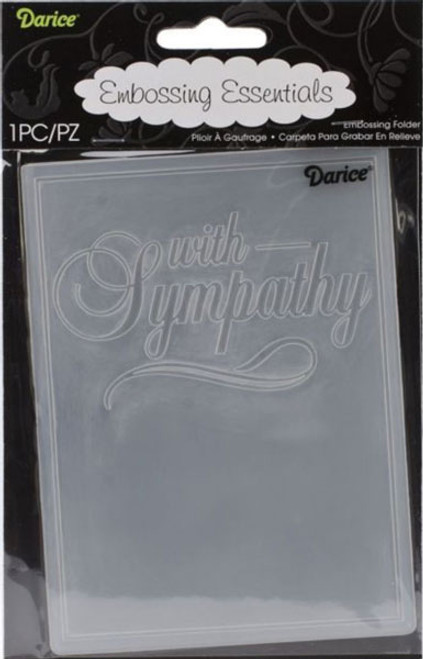 "Darice Embossing Folder - With Sympathy (4.25"" x 5.75"")"