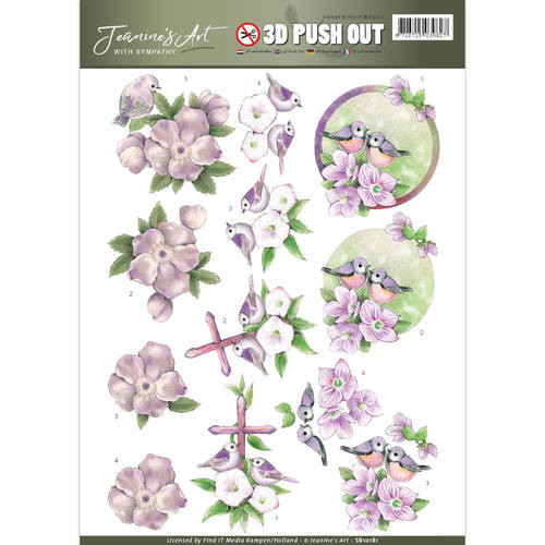 3D Die-Cut Sheet  Jeanines Art  - With Sympathy  SB10181