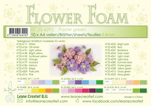 Leanne Creatief  Flower Foam Sheets  - Pastel Green LCR25.4292