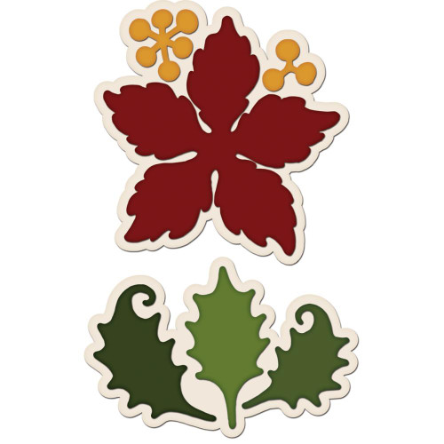 Heartfelt Creations Cut and Emboss Die - Large Sparkling Poinsettia