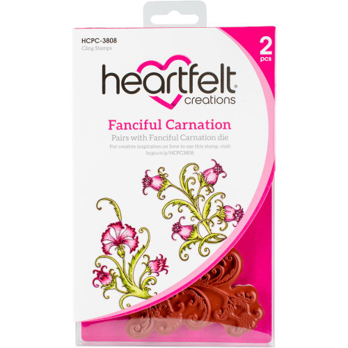 Heartfelt Creations Cling Rubber Stamp Set - Fanciful Carnation HCPC-3808