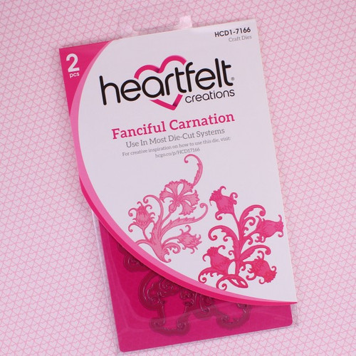 Heartfelt Creations Cut and Emboss Die - Fanciful Carnation HCD1-7166