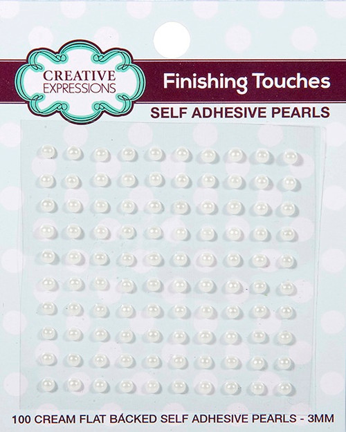 Creative Expressions Self-Adhesive Pearls 3mm - Cream
