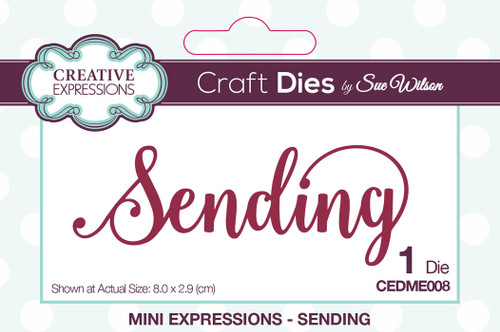 Sue Wilson Mini Expressions Collection Die - Sending CEDME008