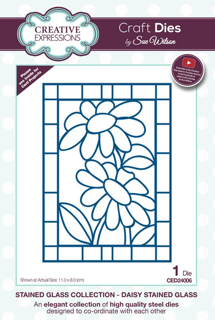 Sue Wilson Stained Glass Collection Dies - Daisy CED24006