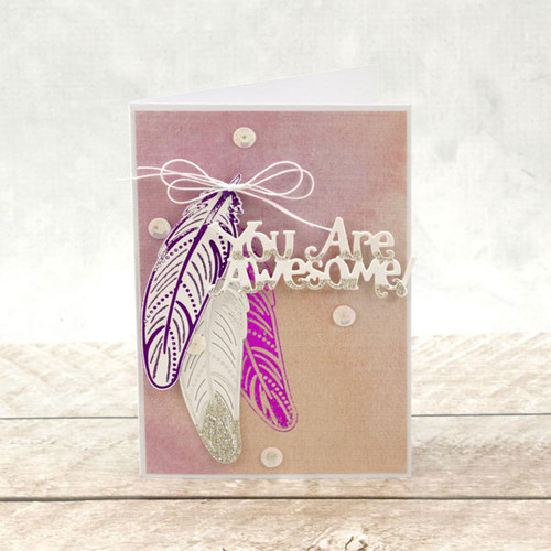 Couture Creations Cut & Foil Die  - Delicate Feather CO725833