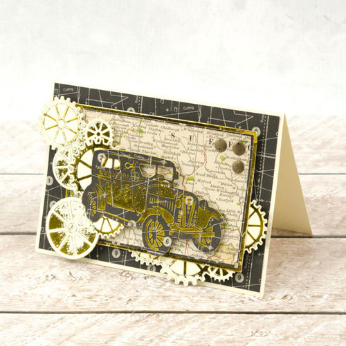 Couture Creations Cut & Foil Die  - Jalopy CO725840