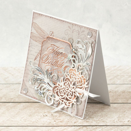 Couture Creations Cut & Foil Die  - Nouveau - Rosy CO725845