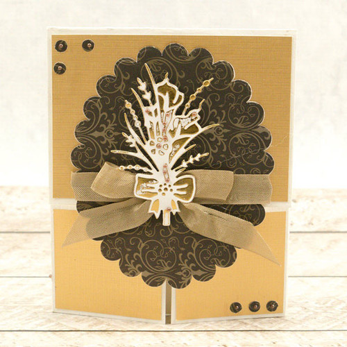 Couture Creations Cut & Foil Die  - Nouveau - Gifted Bouquet CO725848