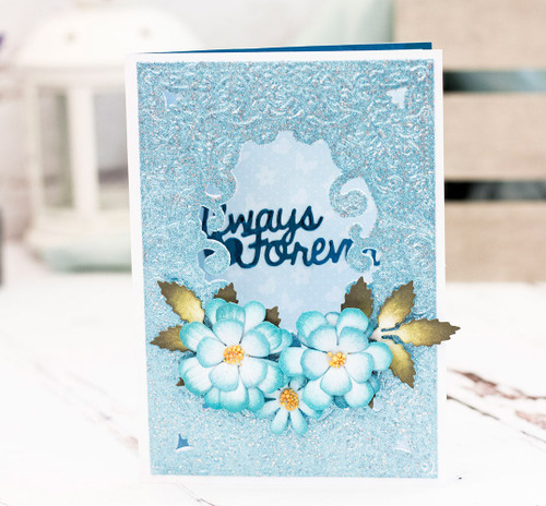 """Crafter's Companion Cut and Emboss Folder 5"""" x 7""""- Blossoming Rose"""