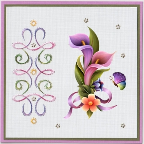 Ann's Paper Art 3D Card Embroidery Pattern Sheet #21 with Ann & Laura