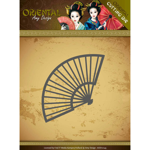 Amy Design Die - Oriental - Chinese Fan -   ADD10145