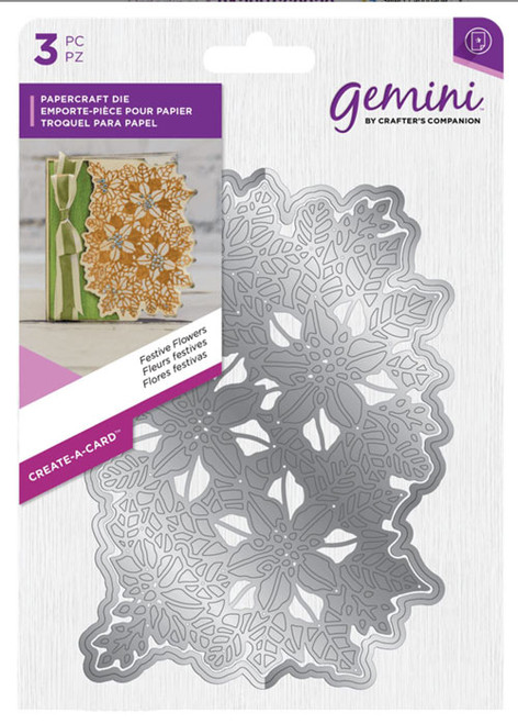 Crafter's Companion Gemini Create A Card Die - Festive Flowers