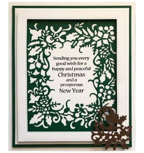 Creative Expressions Paper Cuts Collection Die - Christmas Robin Frame CEDPC1046