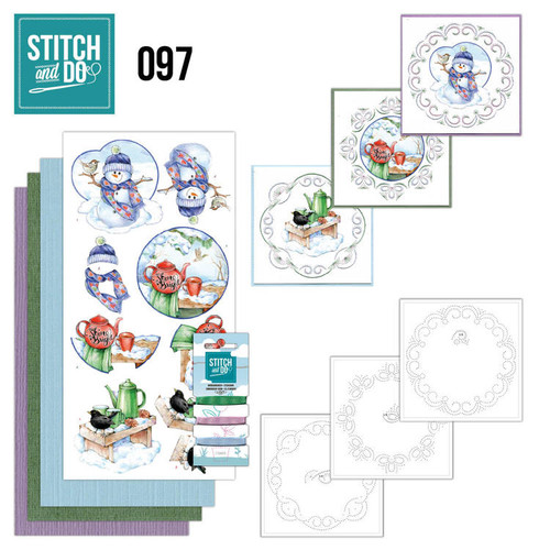 Stitch and Do 97 - Card Embroidery Kit - Warm Winter