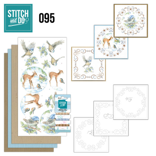 Stitch and Do 95 - Card Embroidery Kit - Winter Woodland
