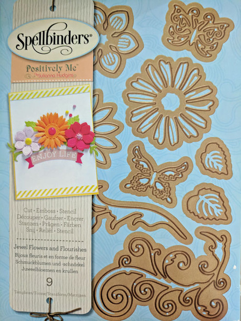 Spellbinders Nestabilities Jewel Flowers and Flourishes - S5-143