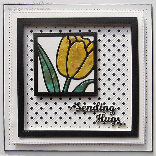 Sue Wilson Mini Shadowed Sentiments - Sending Hugs CEDSS005
