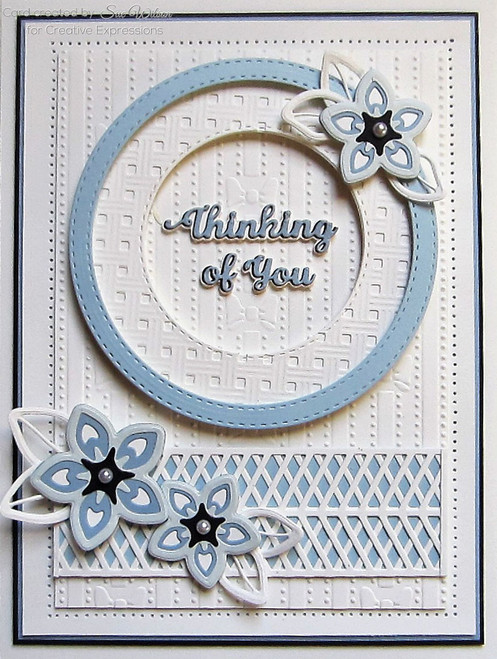 Sue Wilson Mini Shadowed Sentiments - Thinking of You CEDSS006
