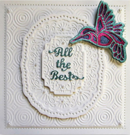 Sue Wilson Mini Shadowed Sentiments - All The Best CEDSS008