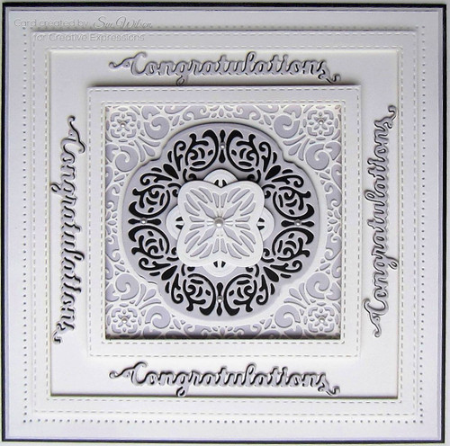 Sue Wilson Mini Shadowed Sentiments - Congratulations CEDSS010 - Pre-Order 15% Off