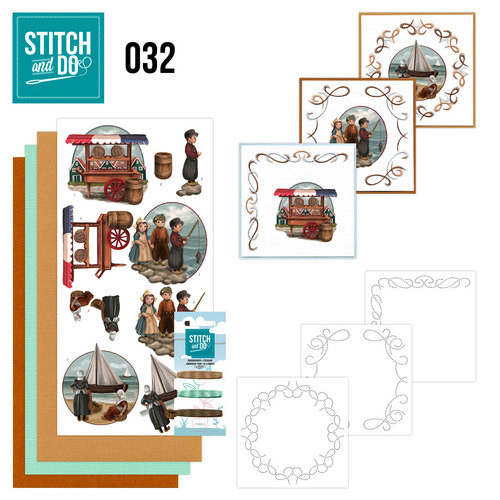 Stitch and Do 32 - Card Embroidery Kit - Old Dutch