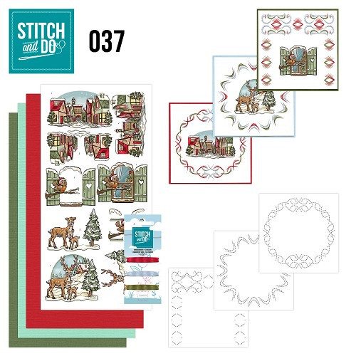 Stitch and Do 37 - Card Embroidery Kit - Christmas Decorations